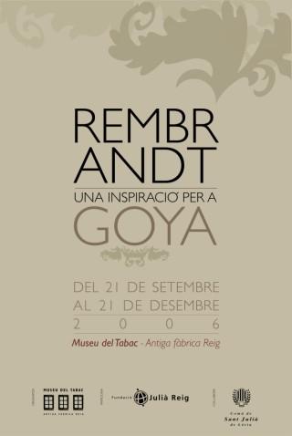 Rembrandt, una inspiració per a Goya